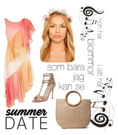 """""""contest: summer date, in Swedish..."""" by dtlpinn on Polyvore featuring Benzara, Manolo Blahnik and Temperley London"""