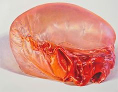 Bubble gum colored pencil drawings by artist Julia Randall