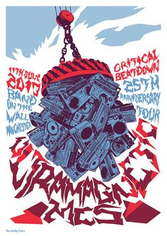 Limited edition gig poster for The Ultramagnetic MC's performance at Band On The Wall, July 11th 2013. Edition of 50 copies. £15.00.