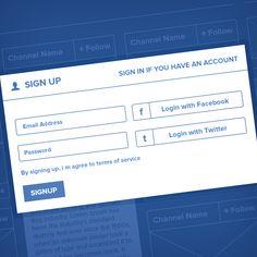 Social Network - Ui / UX by Waseem Arshad, via Behance