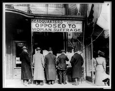 This is the headquarters of the National Association Opposed to Woman's Suffrage. This was one of many anti suffrage organizations in America. These groups wanted to stop women from getting to vote. Women Rights, Us History, Women In History, American History, History Education, History Photos, Modern History, Local History, History Facts