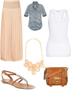 """peachy"" by nikki-wesling on Polyvore"