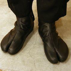 SOU • SOU US Online Store » Leather Tabi Shoes Black