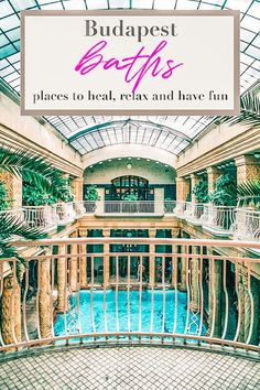 No trip to Budapest would be complete without a day at the famous baths. Which baths should you choose? This post will help you! Budapest City, Visit Budapest, Budapest Travel, Budapest Hungary, Europe Travel Tips, Travel Guides, Travel Destinations, European Travel, Thermal Pool