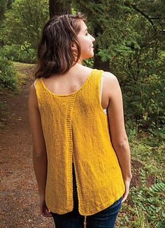Sunflower Split Back Tank | This knit tank top is perfect for summer.
