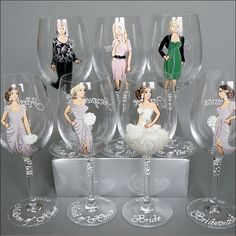 Beyond Amazing! #custom hand-painted and #personalized #wine #glasses - the perfect wedding gift