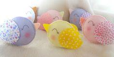 Maripê: Passarinhos de feltro baby