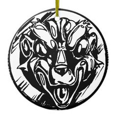 Ugly Amulet Ceramic Ornament - home decor design art diy cyo custom