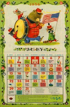 1956 richard scarry calendar - Google Search