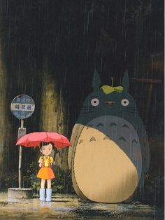 "A fun poster from the Hayao Miyazaki movie My Neighbor Totoro! This modern classic by Studio Ghibli tops many anime ""Best Of"" lists! Check out the rest of our fantastic selection of Hayao Miyazaki posters! Need Poster Mounts. Hayao Miyazaki, Totoro Poster, Studio Ghibli Films, Anime Lindo, Howls Moving Castle, My Neighbor Totoro, Animes Wallpapers, Anime Art, Art Prints"