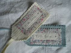 Fabric gift tags.......I love them <3