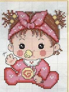 Resultado de imagen para grafico bebê rastejando em ponto cruz