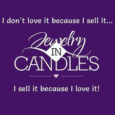 I sell it because i love, love, love it!!! #ilovejic #jewelry #candles