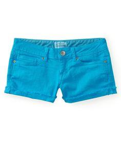 aeropostale jean shorts | Details about aeropostale womens colored denim shorty shorts
