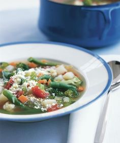 Vegetable Soup | Soup's on and these recipes will have you feeling great. They're chock full of nutrient-packed ingredients—and best of all, quick and easy to prepare.