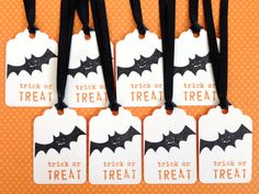 halloween favor tags halloween gift tags bat tag trick or treat tag set halloween labels cute kids halloween tag halloween decor