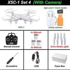 Drone - X5C-1 Quadcopter Drone With Camera X5C or X5 rc Helicopter Without Camera FREE SHIPPING - Have a quadcopter yet? . TOP Rated Quadcopters has the best Beginner, Racing, Aerial Photography and Auto Follow Quadcopters on the planet. See For Yourself >>> http://topratedquadcopters.com <<< :) #electronics #technology #gadgets #techie #quadcopters #drones #fpv #autofollowdrones #dronography #dronegear #racingdrones #beginnerdrones #trending #like #follow