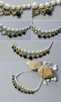 The tutorial about the beaded bib necklace will be shared by LC.Pandahall.com