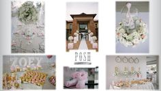 Posh Pink princess and tutu-cute baby shower for princess Zoey - complete with Posh sweetie table