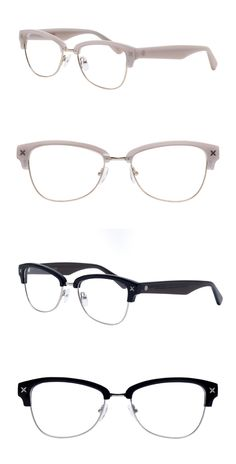 Clubmaster meets Cateye with this fabulously chic and feminine piece. #Glasses #readingglasses  #retro claudiaalan.com Optical Frames, Reading Glasses, Eyewear, Feminine, Retro, Chic, Frames For Glasses, Glasses, Women's