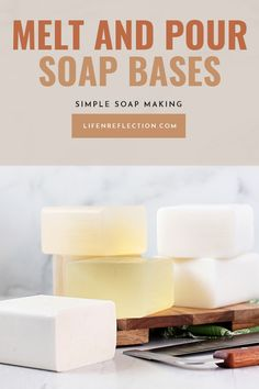 After trying one of these 10 soap base types you'll quickly realize that melt and pour soap is incredible! Soap Making Recipes, Bath Recipes, Soap Recipes, Coconut Soap, Shea Butter Soap, Soap Colorants, Glycerin Soap, Coffee Soap, Olive Oil Soap