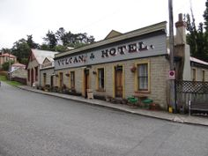 The historic Vulcan Hotel at St. Bathans - our evening meal stop on day of our cycle tours. South Pacific, Pacific Ocean, Central Otago, State Of Arizona, New Zealand, Trail, Tours, Places, Cycling