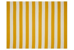 Ada Flat-Weave Rug, Yellow/White on OneKingsLane.com