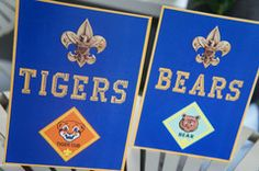 Cub Scout Blue & Gold Ceremony Rank Signs - Scout Blue & Gold Ceremony Party Ideas & Supplies