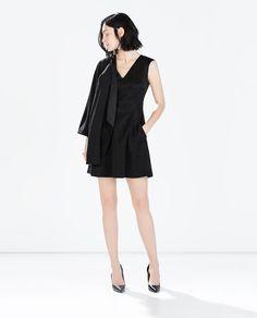 ZARA - WOMAN - JACQUARD V-NECK DRESS