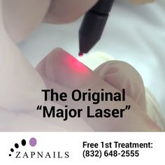 Laser treatment beats pills and ointments: No pain. No side effects. 30 minute sessions. And it's LASERS! Call (832) 648-2555 • http://zapnails.com