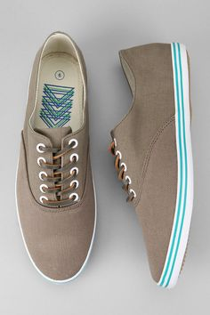 Josef Twill Plimsoll Sneakers, i love the light blue stripes.