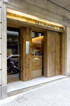 Restaurante Coure- Alfons Tost Public Restaurant, Restaurant Facade, Restaurant Entrance, Restaurant Design, Restaurant Bar, Entrance Design, Facade Design, Door Design, Exterior Design