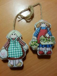 Cross Country Stitching - Dolls made from the Country Girls Alphabet (letters G & X)