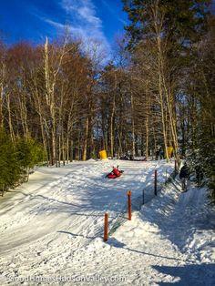 Sledding at Fahnestock Winter Park at Putnam County, New York