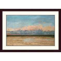 Global Gallery 'The Sea at Palavas' by Gustave Courbet Framed Painting Print Size: