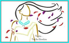 Pocahontas Sketch Digital Embroidery Machine Applique Design File by on Etsy Applique Fabric, Machine Embroidery Applique, Embroidery Ideas, Embroidery Machines, Art Drawings For Kids, Disney Drawings, Disney Artwork, Pocahontas, Machine Applique Designs