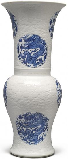 Asian Antiques China Frugal Antique Qing Dynasty Blue And White Porcelain Blue Flowers And Tangerine Pot.