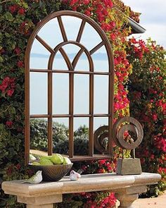 Enjoy the space- and light-enhancing effects of mirrors made expressly for the great outdoors with our Window Garden Mirror.