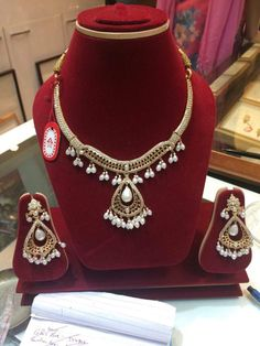 Pendant Earrings, Gold Necklace, Bridal Jewellery, Necklace Designs, Indian Jewelry, Gold Jewelry, Fashion Jewelry, Designers, Jewelry Design