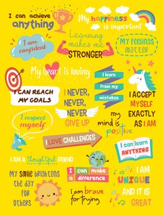 Positive Affirmations Poster For Kids (PDF printable) – Little Big Mindset Growth Mindset For Kids, Growth Mindset Activities, Growth Mindset Posters, Growth Mindset Lessons, Positive Affirmations For Kids, Positive Self Talk, Positive Mindset, Positive Quotes, Positive Art