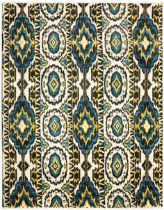 Rug CKT150A Seychelles - Safavieh Rugs - Calcutta Ikat Rugs - Wool Rugs - Area Rugs - Runner Rugs