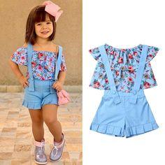 Girls Summer Outfits, Dresses Kids Girl, Cute Girl Outfits, Cute Outfits For Kids, Toddler Outfits, Clothes For Kids, Baby Dresses, Dress Girl, Toddler Dress