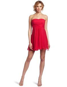 BCBGMAXAZRIA Women's Duran Strapless Cocktail Skirt Dress, Ruby Red, straples cocktail dress features a cinched waist Best Prom Dresses, Dresses 2013, Special Dresses, Holiday Dresses, Special Occasion Dresses, Bridesmaid Dresses, Strapless Cocktail Dresses, Strapless Dress, Chiffon Dress