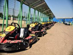 Bucharest Outdoor Karting - This is a Silverstone of Go-Karting in Buchrest - Super fast karts on a concrete track hosting top pro events. The track is 1240 meters long and meters wide so some super karting fun to be had. Outdoor Go Karting, Top Pro, Bucharest, Action, Group Action