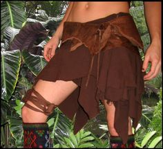 Elven Forest | Tattered Pixie Skirt with Hidden Leaf Zipper | Online Store Powered by Storenvy