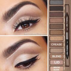 Natural eye makeup with naked 1