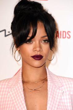 Burgundy, berry, dark purple lipstick