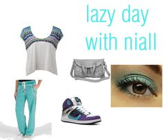 """""""lazy day with niall"""" by kelsiestimpert ❤ liked on Polyvore"""