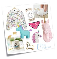"""""""U is for Unicorn"""" by sara-kate-lusetti on Polyvore featuring Post-It, Hug a Porcupine, Casetify, Kale, NPW e Dogeared"""