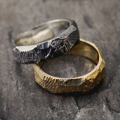 The Tephra Wedder in Sterling Silver and 18ct Yellow Gold.  #aliciahannahnaomi #weddingring #wedding #engagement